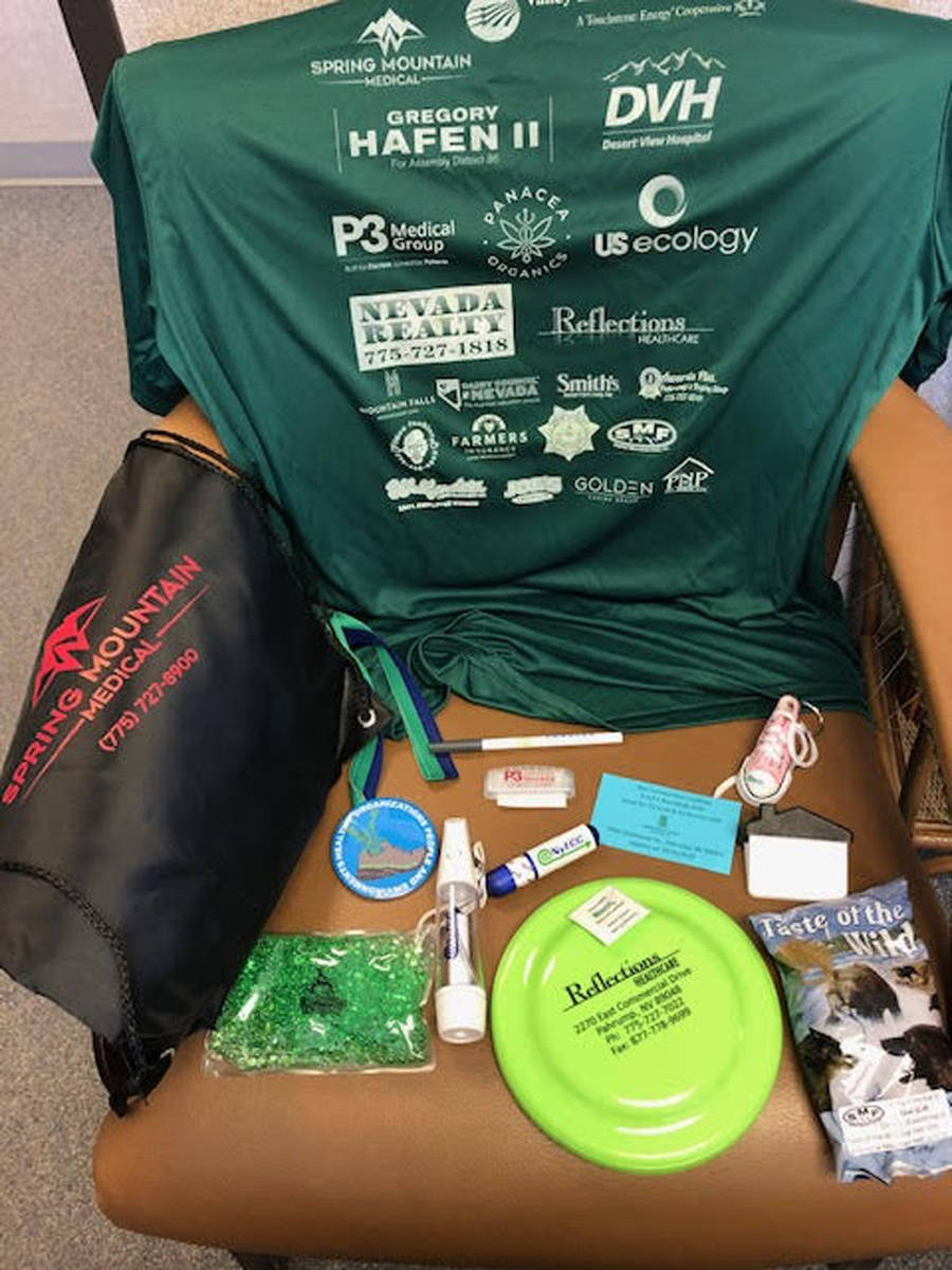"""Special to the Pahrump Valley Times Participants in the 2020 HOPE Run each received a """"swag bag ..."""