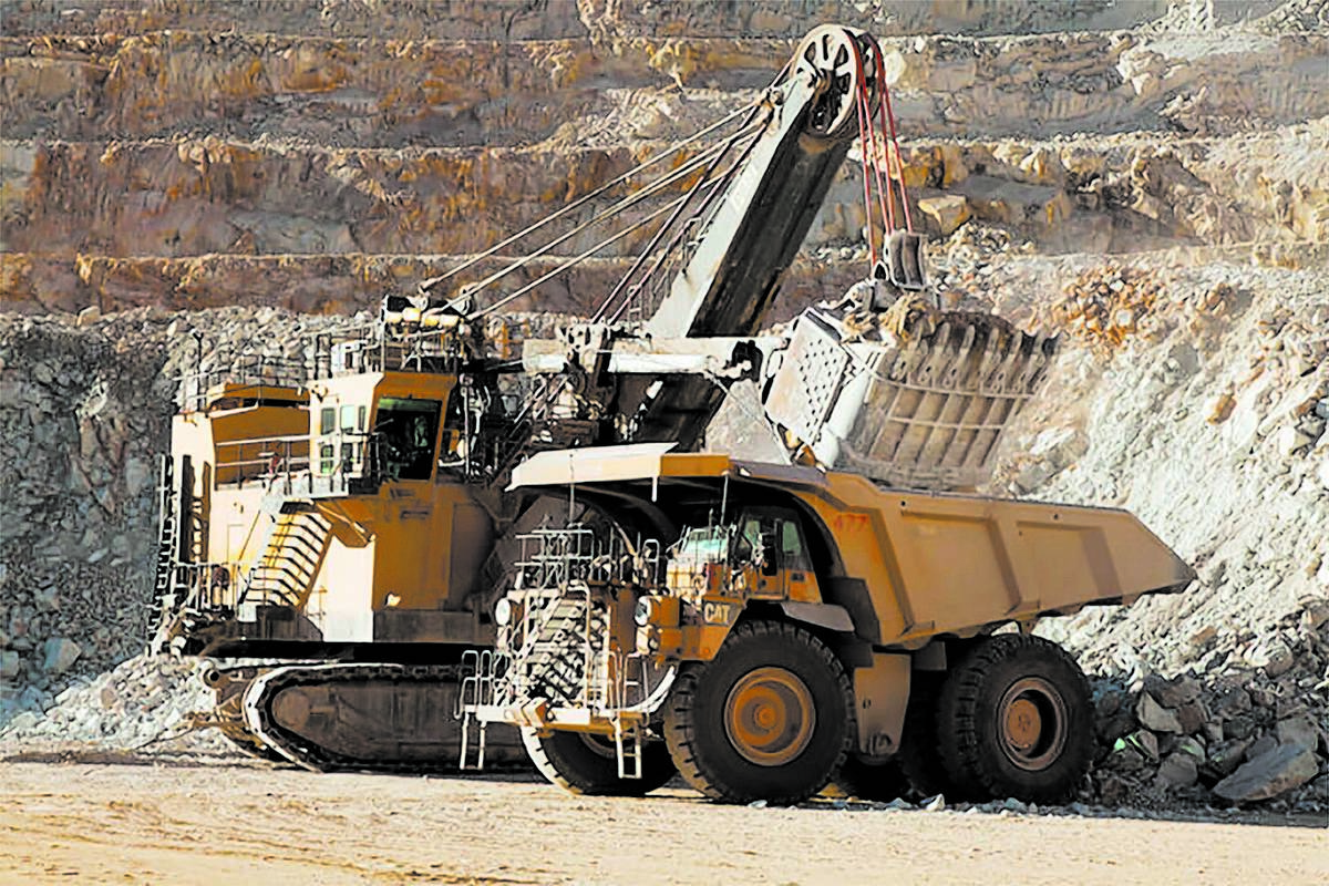 Special to the Pahrump Valley Times Heavy machinery at work at Round Mountain gold mine in Nye ...