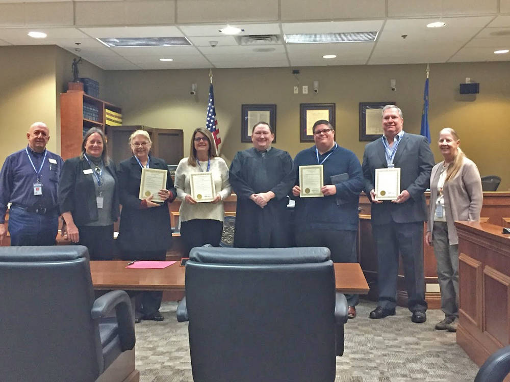 Special to the Pahrump Valley Times The newest volunteer advocates for Pioneer Territory CASA a ...