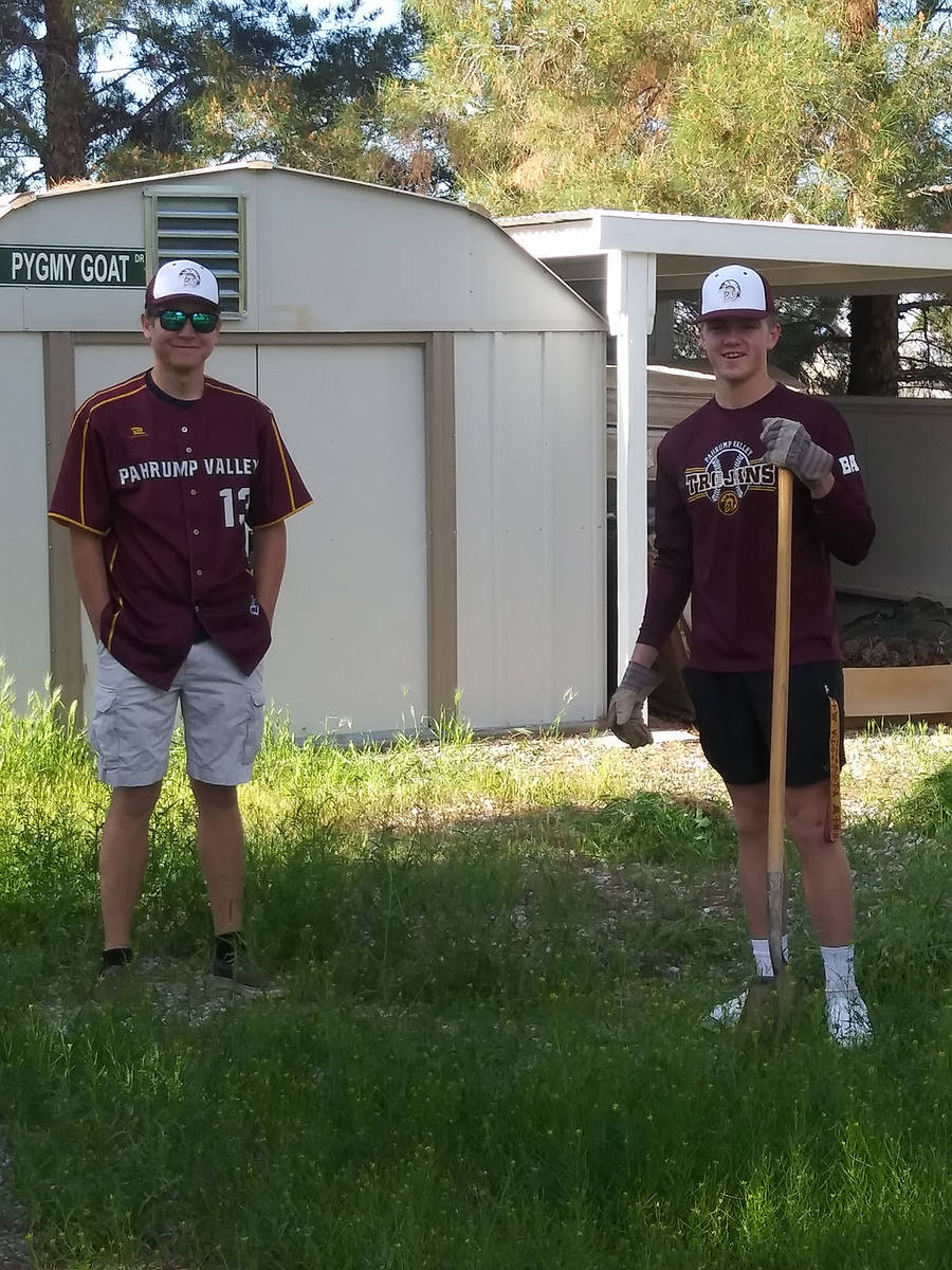 Charlotte Uyeno/Pahrump Valley Times Seniors Cyle Havel, left, and Chase McDaniel wanted to fin ...