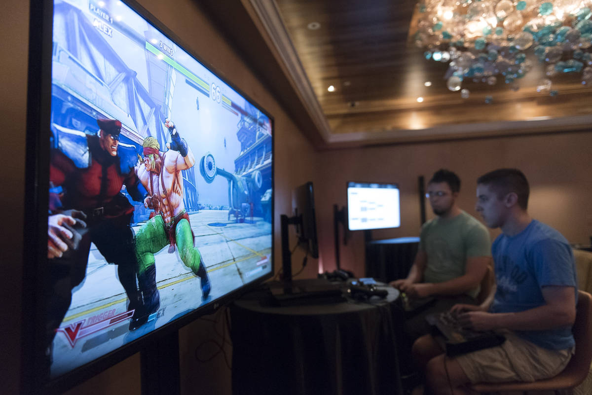 Jason Ogulnik/Special to the Pahrump Valley Times The Downtown Underground esports lounge at th ...
