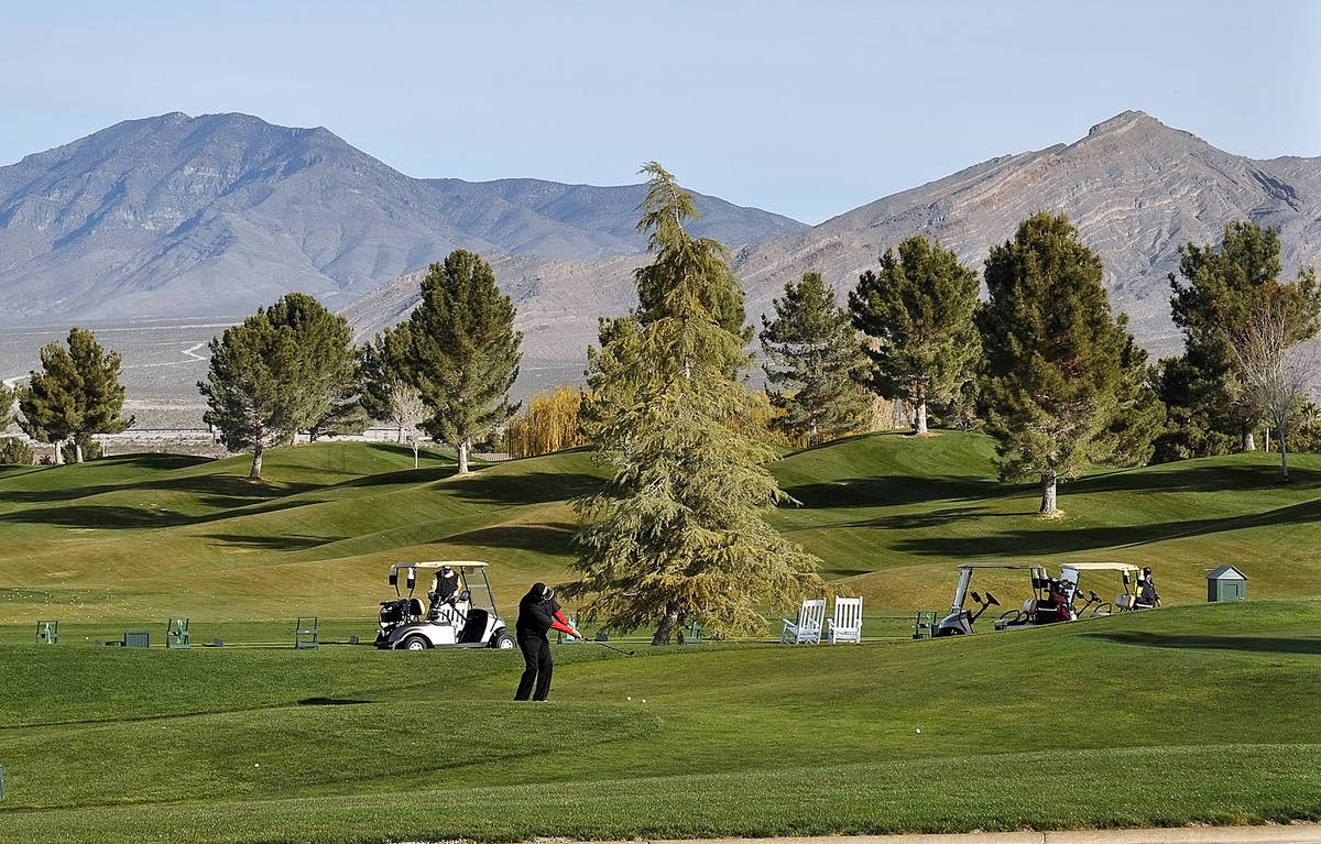 Horace Langford Jr./Pahrump Valley Times Restrictions on outdoor activities, including golf, pi ...
