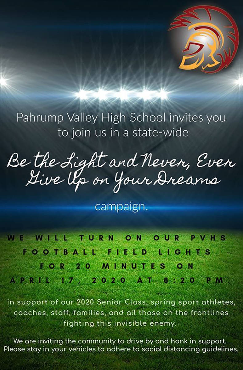 Special to the Pahrump Valley Times Pahrump Valley High School extended an invitation to join i ...