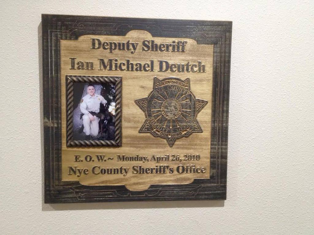 Southern Desert Regional Police Academy honored Nye County Sheriff's Deputy Ian Deutch with a ...