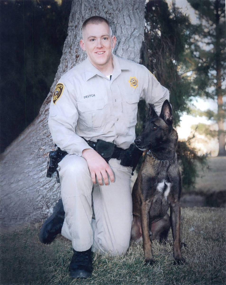 Special to the Pahrump Valley Times Nye County Sheriff's Deputy Ian Michael Deutch was shot and ...