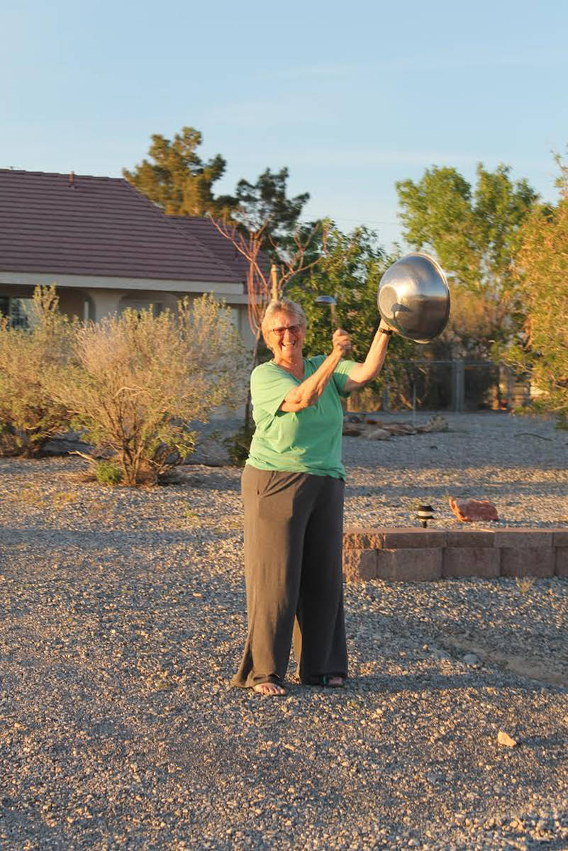 Special to the Pahrump Valley Times Makeshift noise makers of all kinds can be used to show sup ...