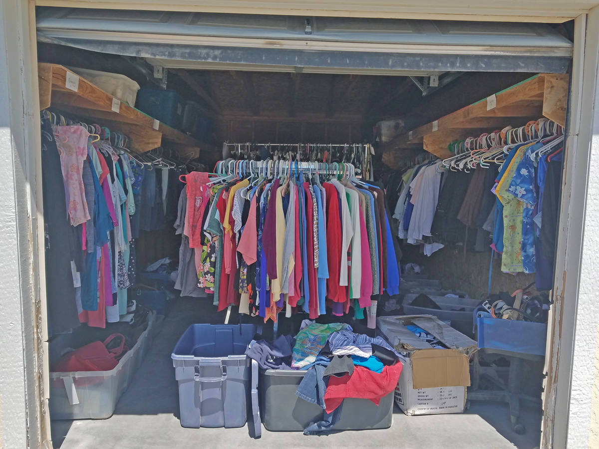 Special to the Pahrump Valley Times Nevada Outreach has a huge amount of clothing available to ...