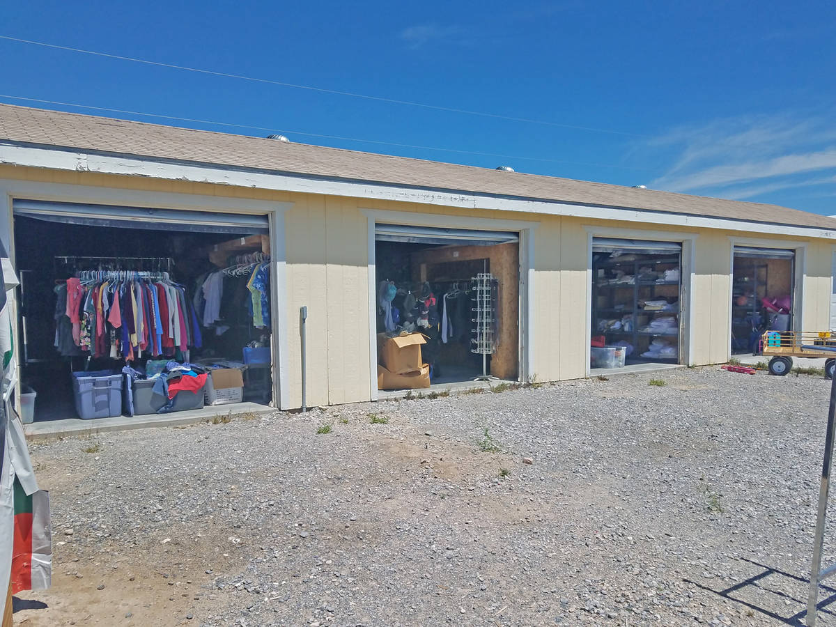 Special to the Pahrump Valley Times Storage units at Nevada Outreach are filled with all sorts ...