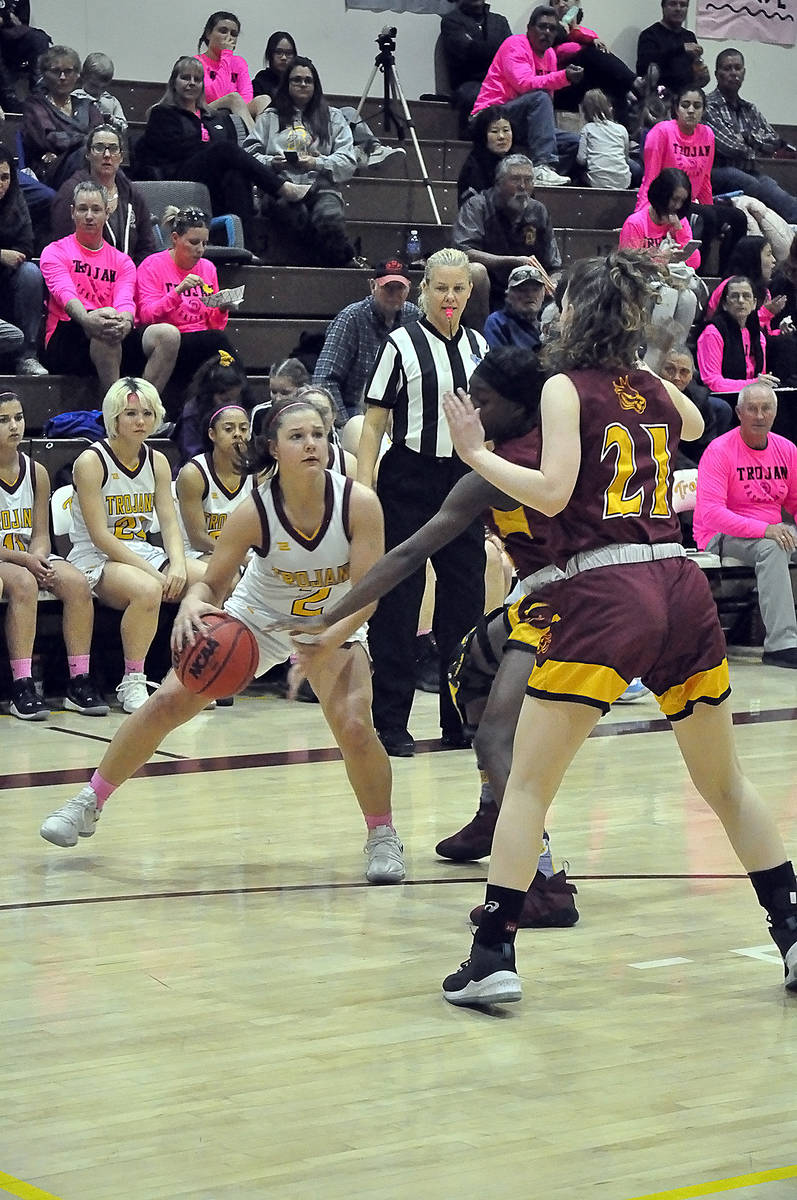 Horace Langford Jr./Pahrump Valley Times Tayla Wombaker and the Pahrump Valley girls basketball ...