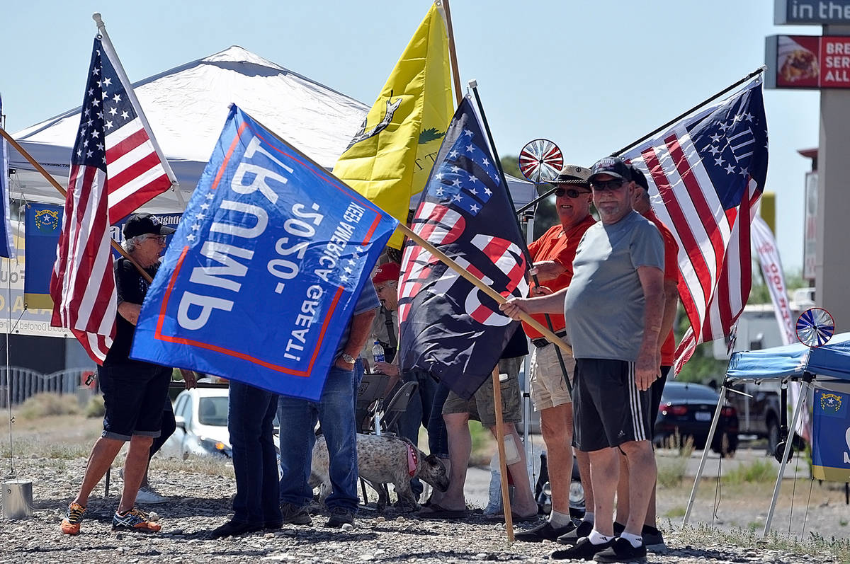 Horace Langford Jr./Pahrump Valley Times At the Reopen Nevada rally on May 2, locals showed the ...