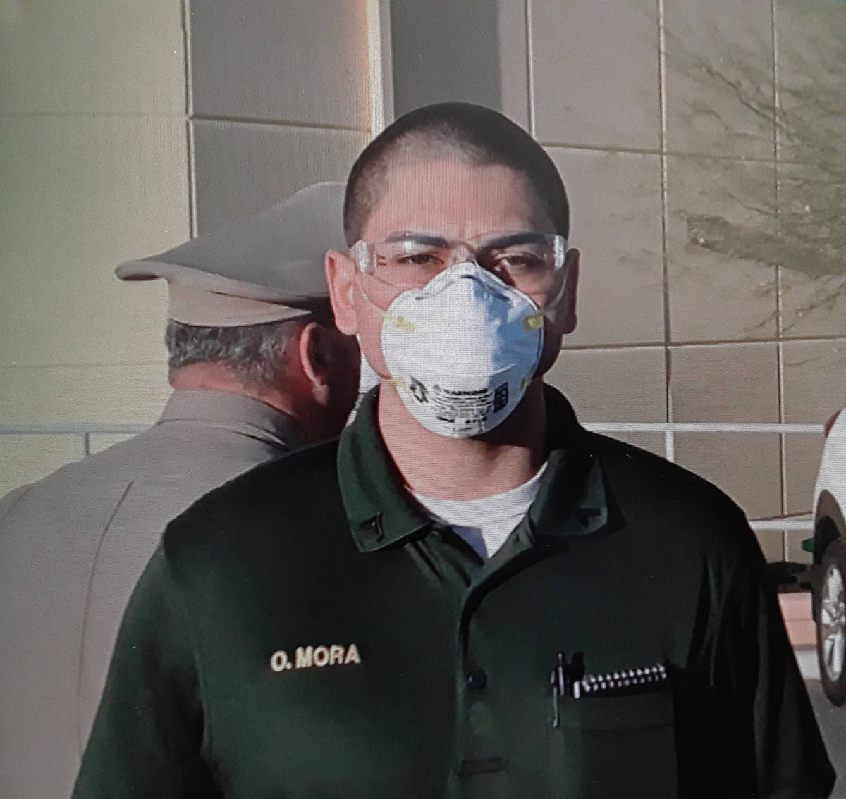 "Special to the Pahrump Valley Times Dubbed the ""COVID-19 class,"" recruits must wear masks and g ..."