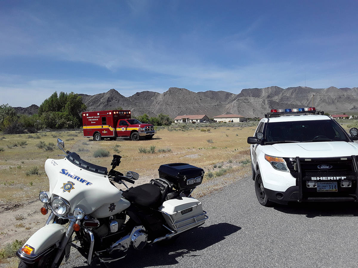 Selwyn Harris/Pahrump Valley Times Nye County Sheriff Sharon Wehrly said the unidentified suspe ...