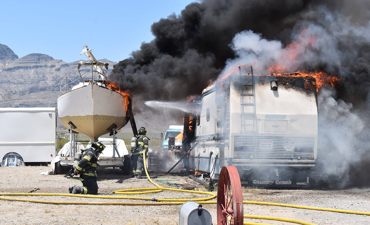 Special to the Pahrump Valley Times On Saturday May 9th fire crews were dispatched to a well-in ...