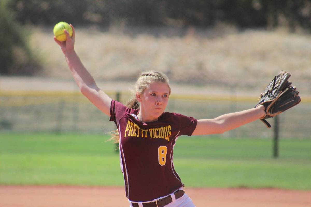 Cassondra Lauver/Special to the Pahrump Valley Times Hannah Cuellar, one of several PVHS player ...