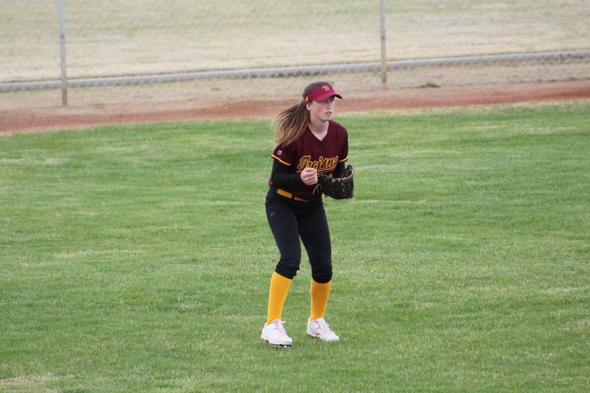 Cassondra Lauver/Special to the Pahrump Valley Times Kiley Lyons is hoping to play softball at ...