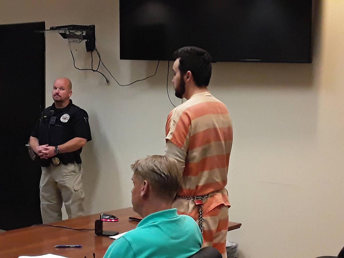 Selwyn Harris/Pahrump Valley Times Confessed murder suspect Dakota Saldivar accepted a guilty p ...
