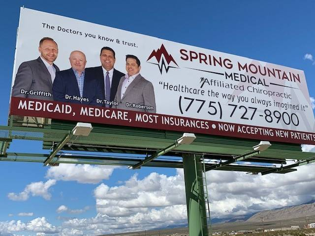 Levi Rogers/Special to the Pahrump Valley Times This billboard is seen on Highway 160. Even wit ...