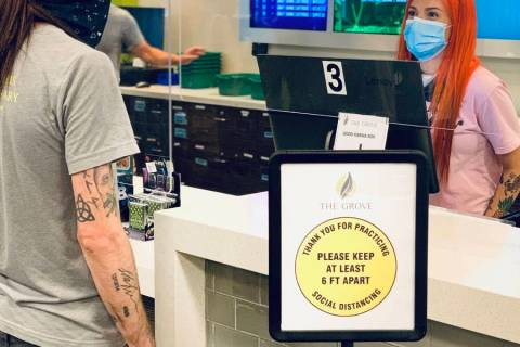 Special to the Pahrump Valley Times Pahrump's Grove cannabis dispensary, which began delivery- ...