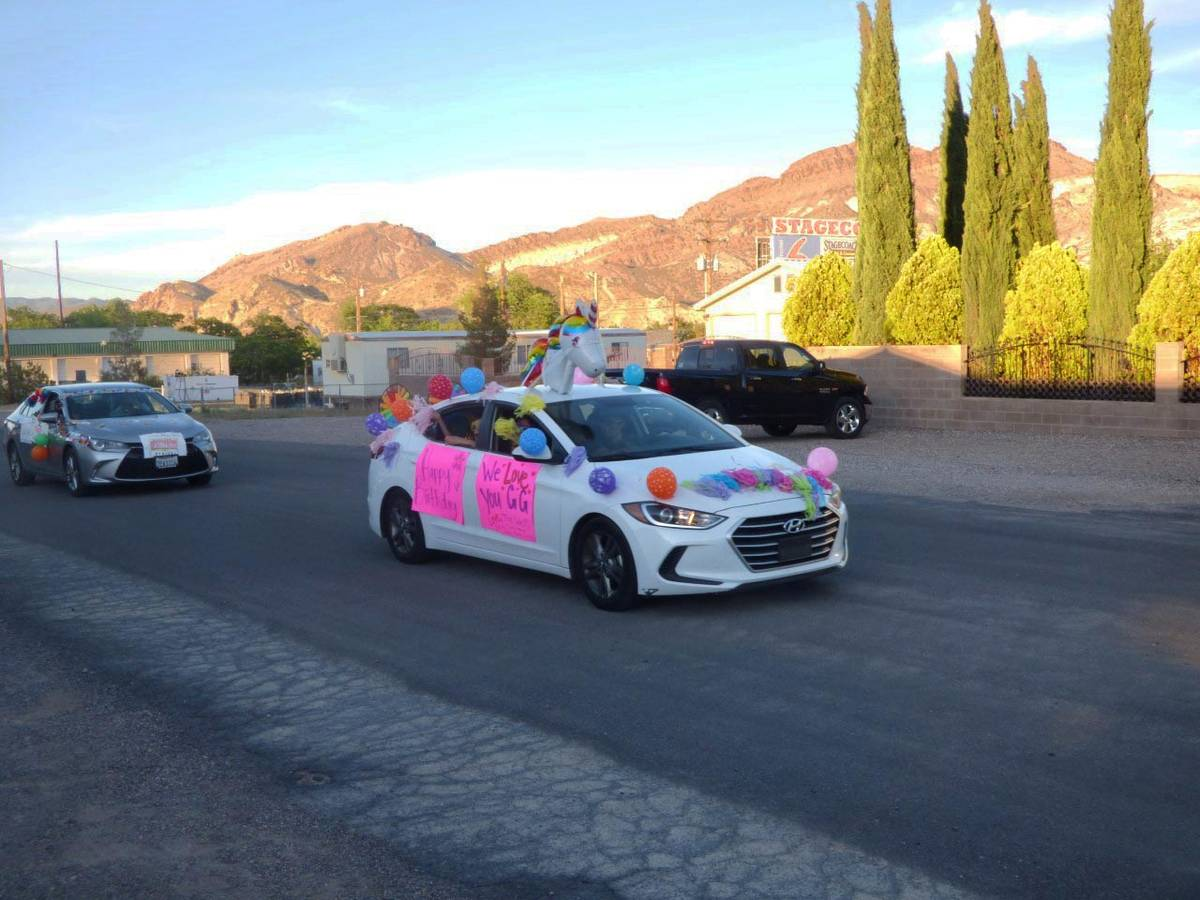 Special to the Pahrump Valley Times Two Nye County Sheriff's deputies led a parade of vehicles ...