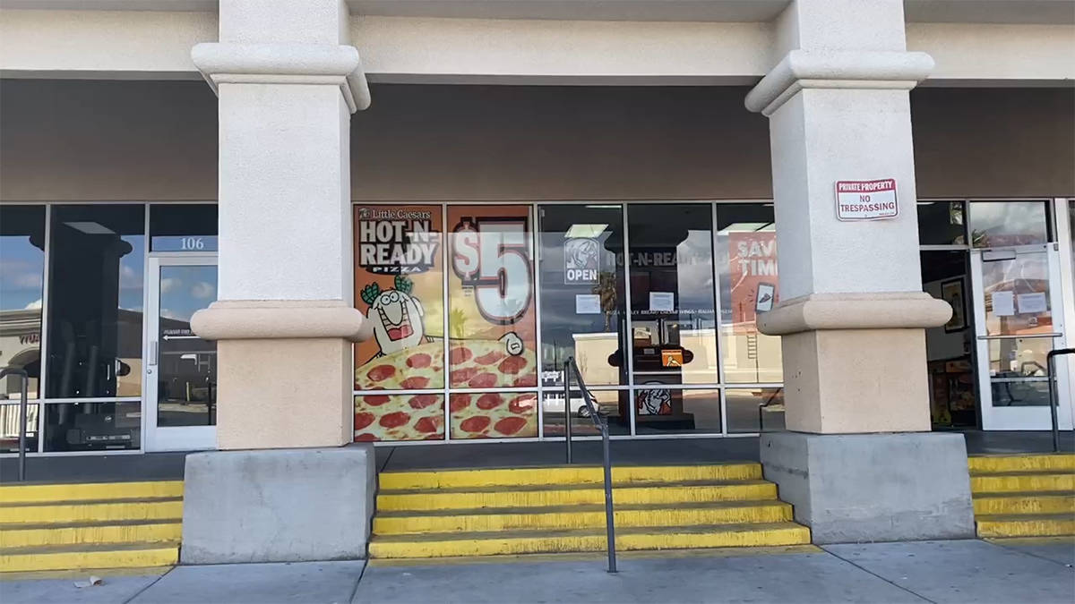 Jeffrey Meehan/Pahrump Valley Times Participating Little Caesars have been asking customers to ...