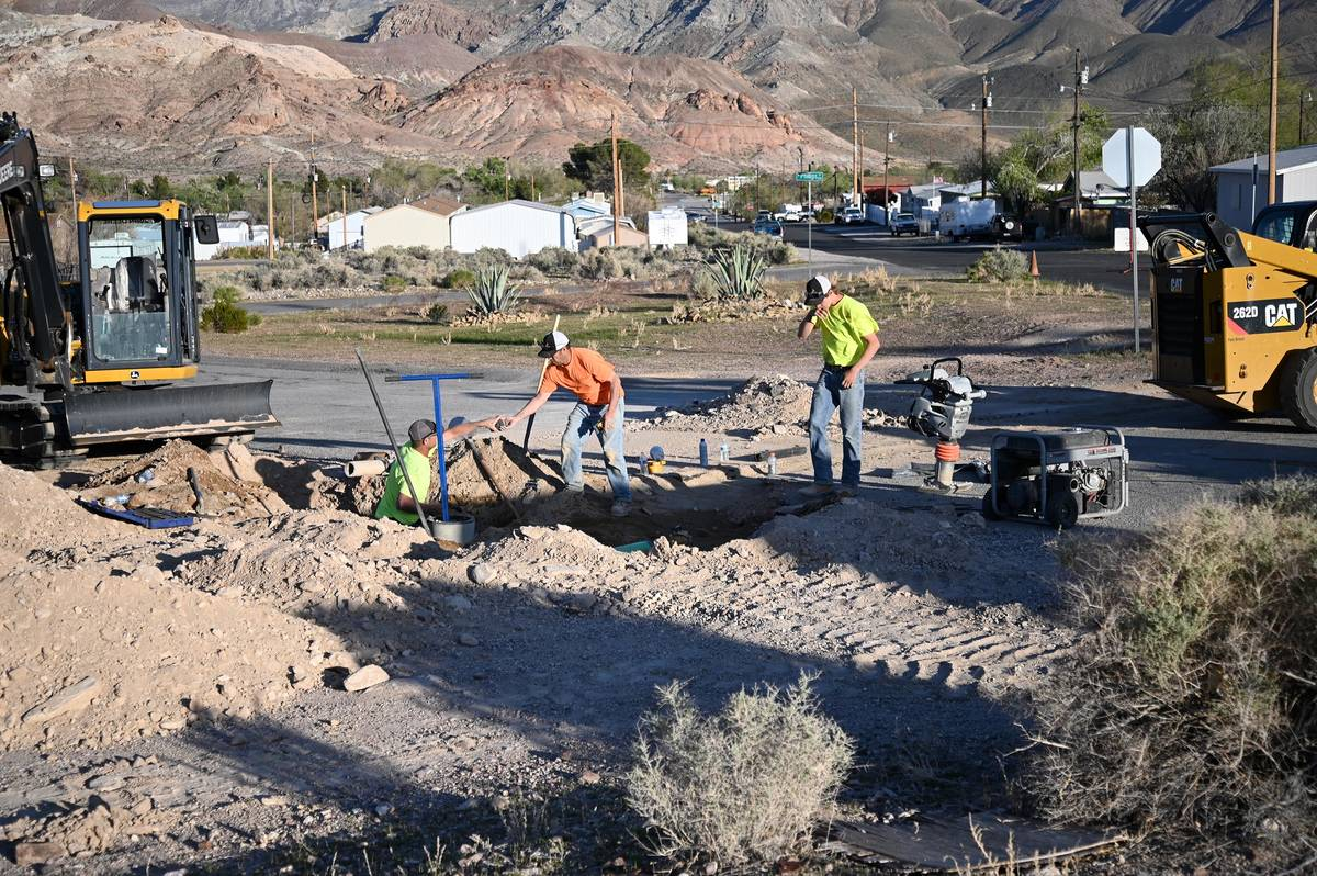 Richard Stephens/Special to the Pahrump Valley Times Another complication in completing the wo ...
