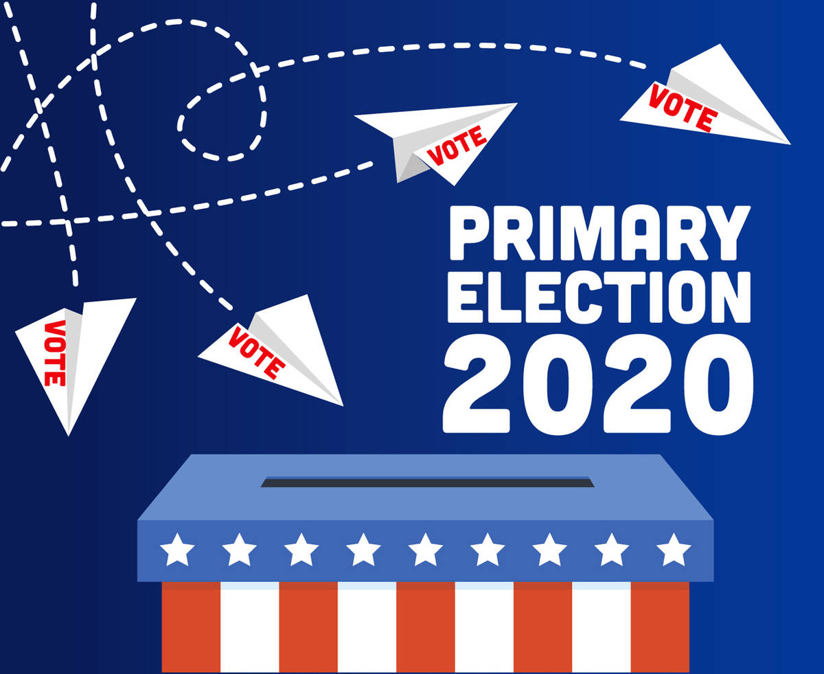 The 2020 primary election is set for June 9 and voters in Nevada will be taking part via absent ...