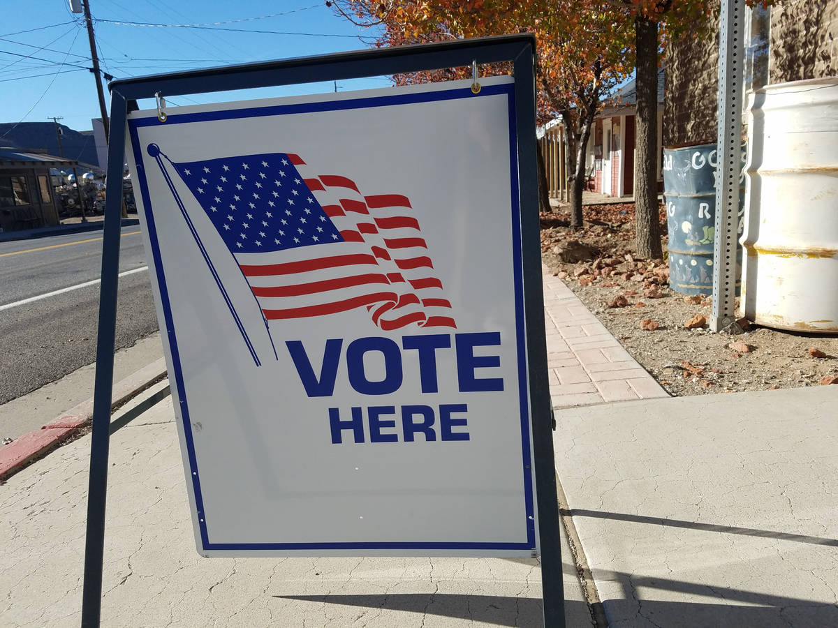 David Jacobs/Times-Bonanza Election day turnout on Nov. 6 brought out 184 voters in Esmeralda C ...