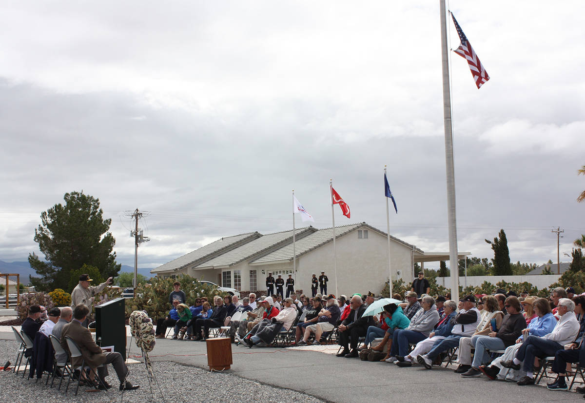 Robin Hebrock/Pahrump Valley Times A large crowd gathered for the annual Memorial Day service a ...