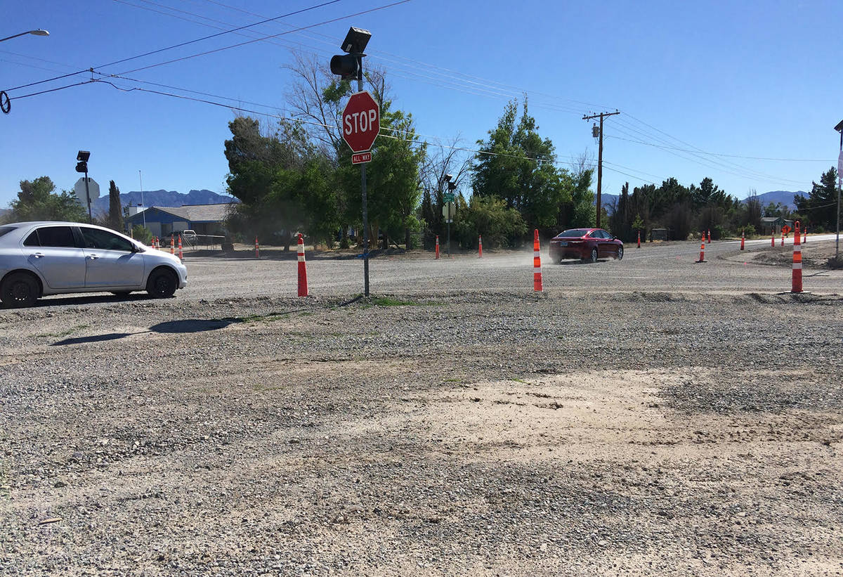 Robin Hebrock/Pahrump Valley Times This photo taken Monday, May 25 shows the intersection of Le ...