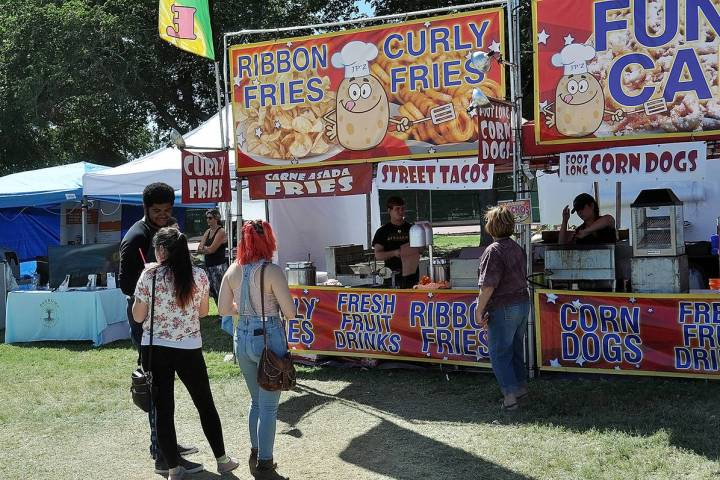 Horace Langford Jr./Pahrump Valley Times This file photo shows a food vendor at the 2018 Pahrum ...