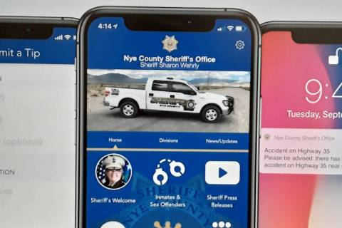 Special to the Pahrump Valley Times The new Nye County Sheriff's Office smartphone app will all ...