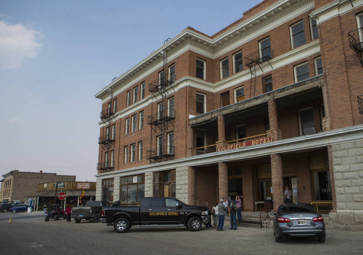 Chase Stevens/Special to the Pahrump Valley Times The historic Goldfield Hotel offered tours d ...