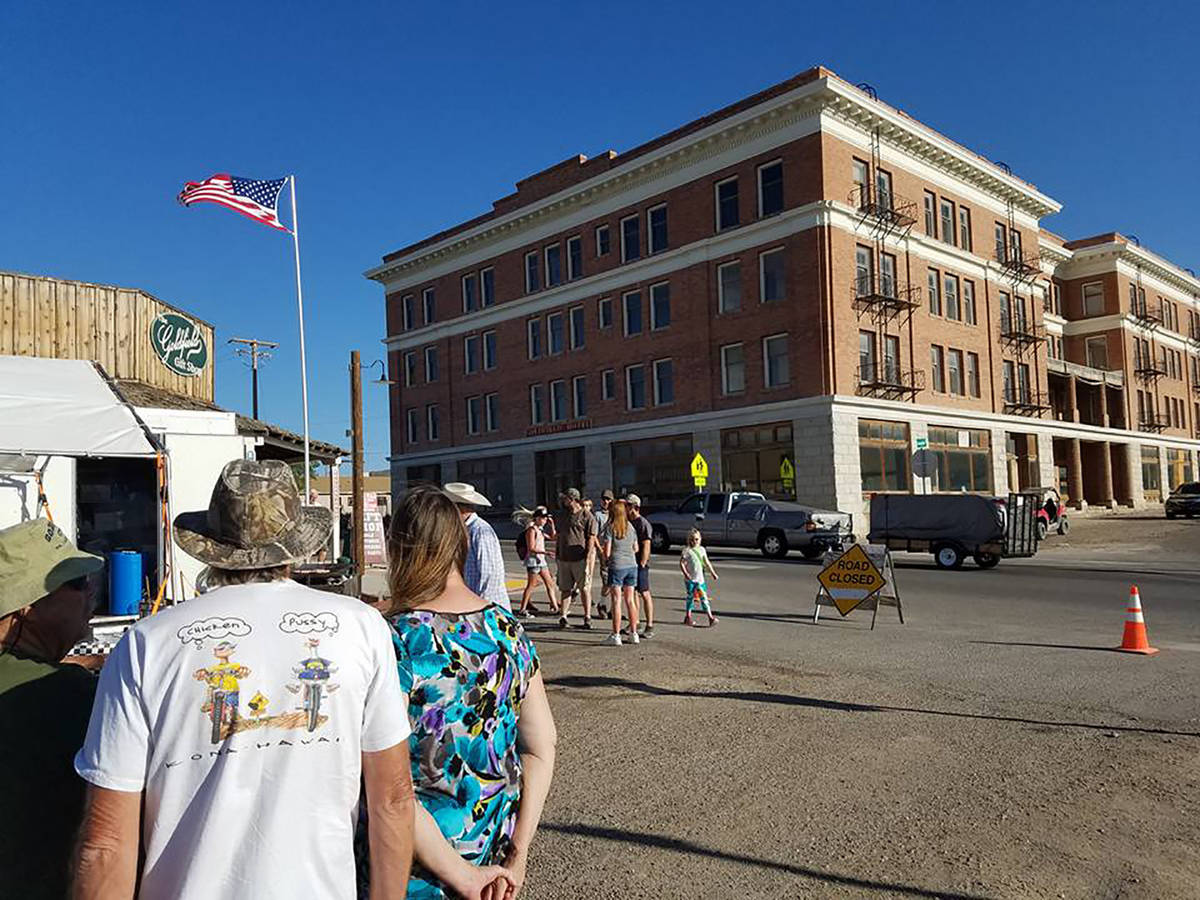 Jeffrey Meehan/Pahrump Valley Times A crowd gathers for Goldfield Days as shown in a file phot ...