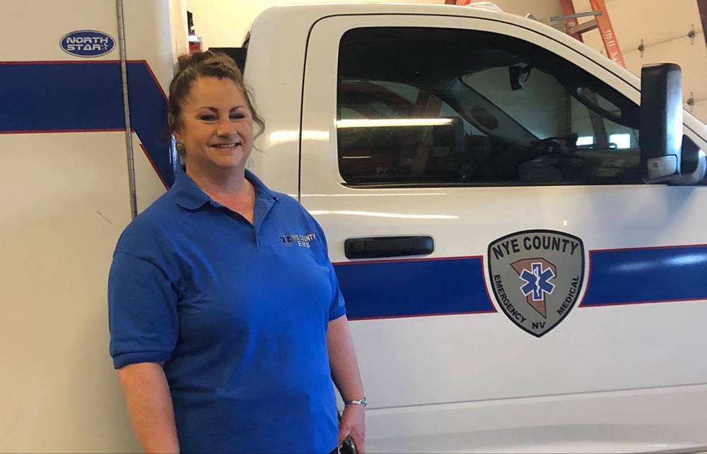 Special to the Pahrump Valley Times Tonopah Volunteer Ambulance service coordinator Stephanie O ...