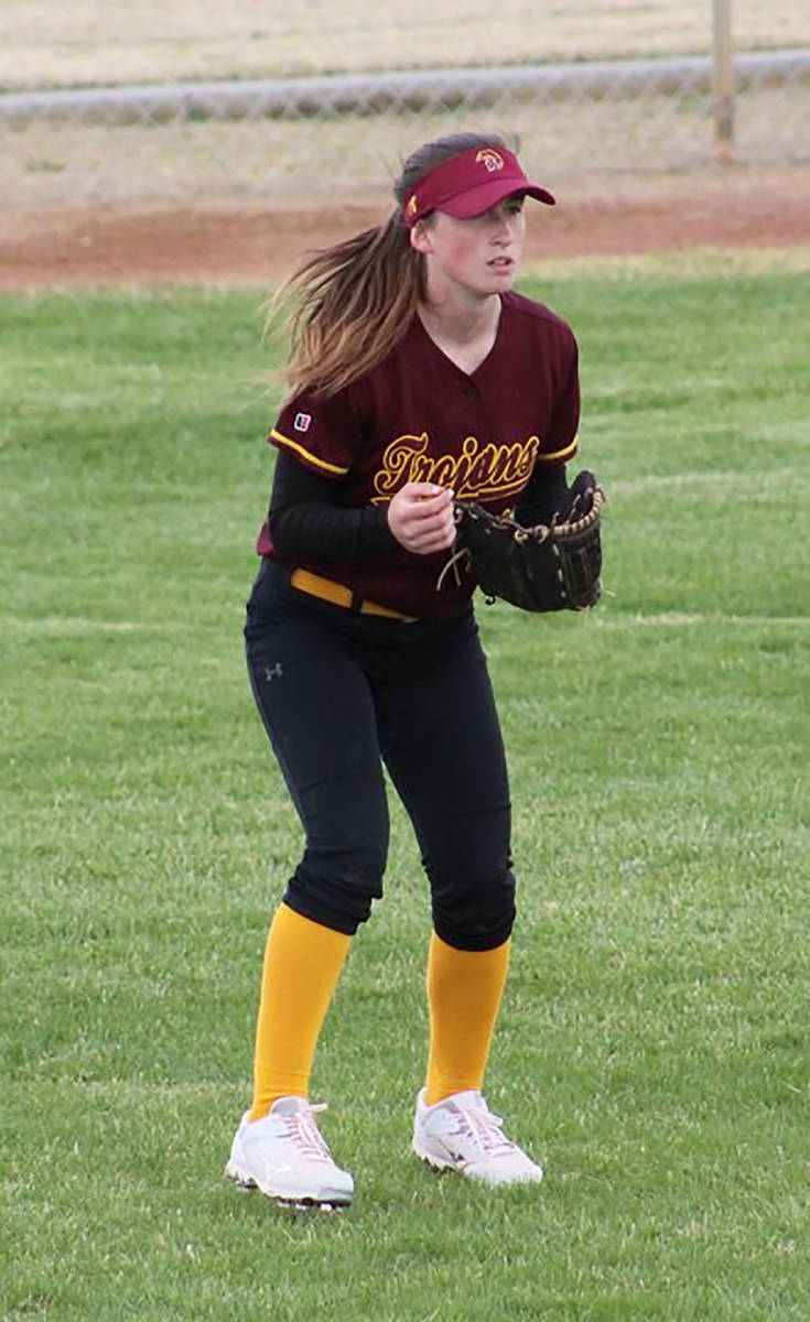 Cassondra Lauver/Special to the Pahrump Valley Times Kiley Lyons, who hit .306 for the Class 3A ...