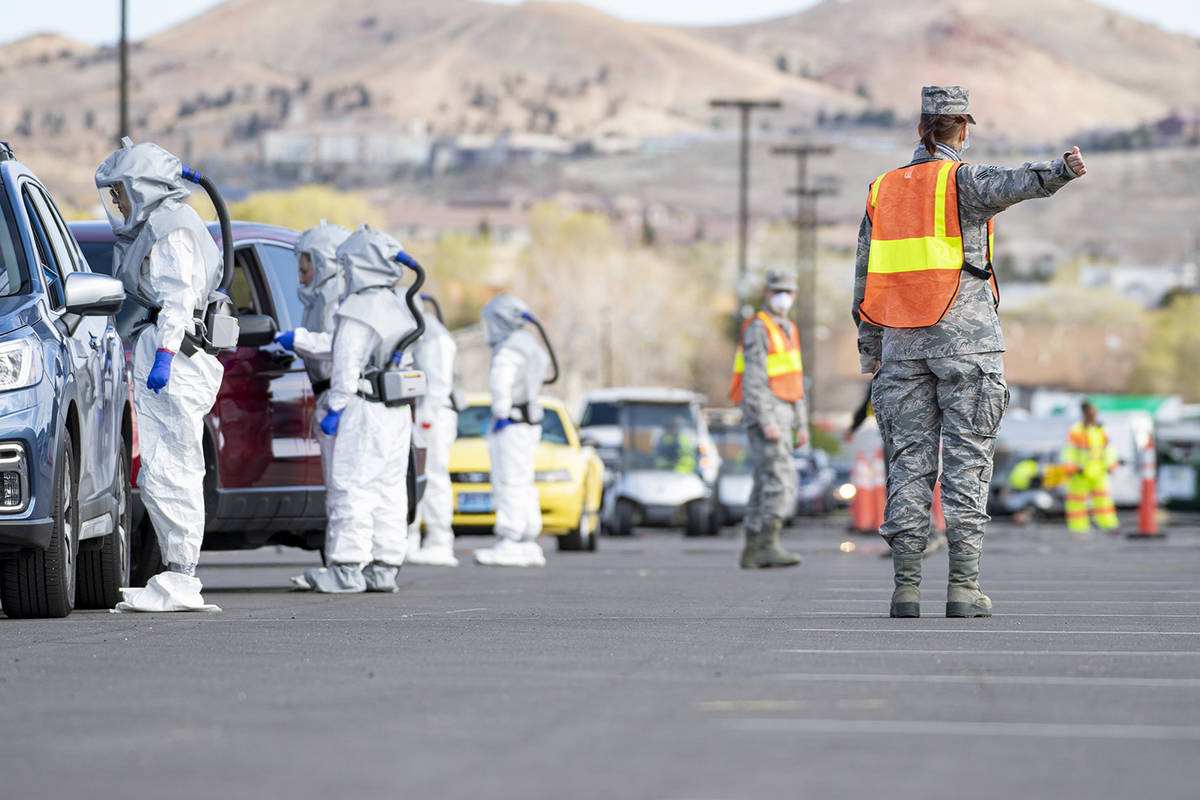 Special to the Pahrump Valley Times Members of the Nevada National Guard have teamed with the W ...