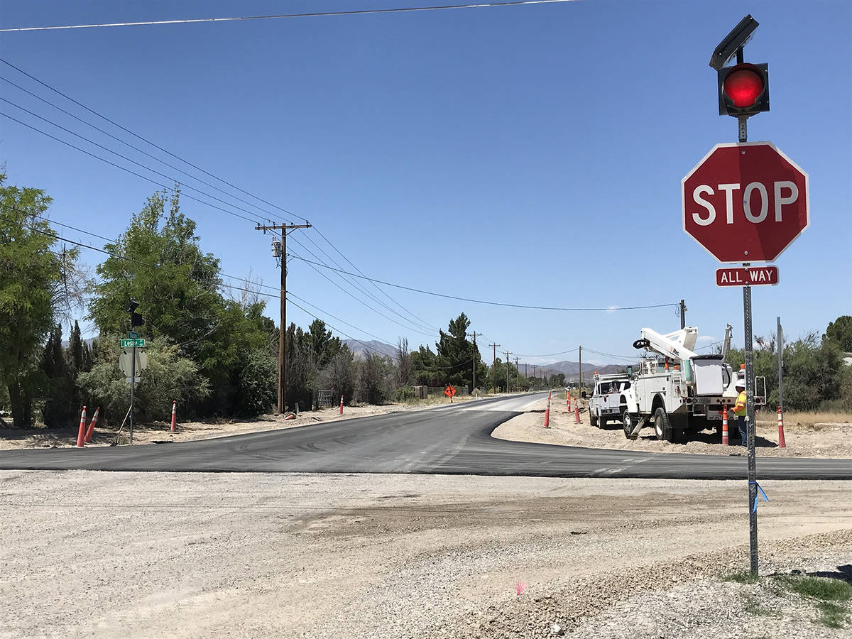 Robin Hebrock/Pahrump Valley Times This photo, taken Thursday, May 28, shows a portion of the p ...