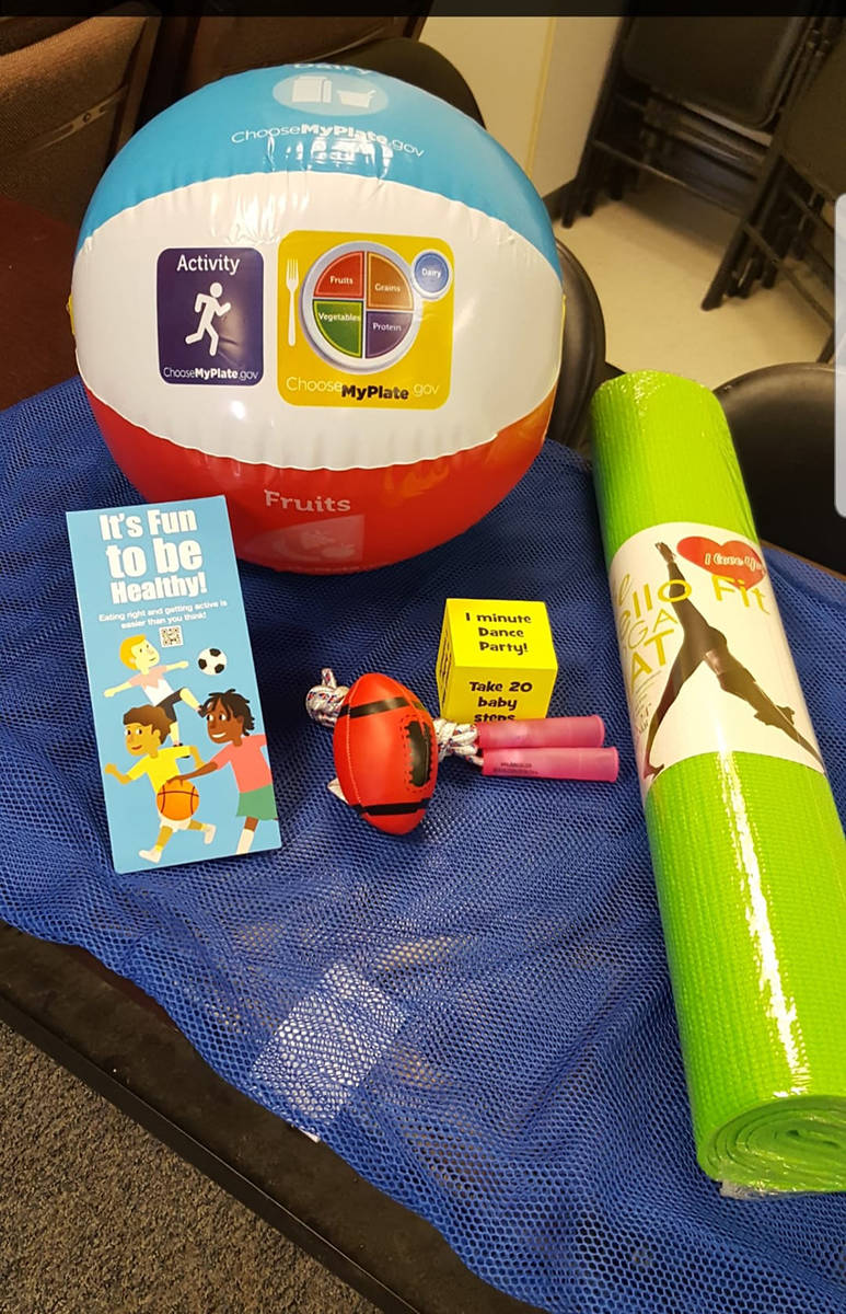 Special to the Pahrump Valley Times This photo, provided by program organizers, shows the items ...