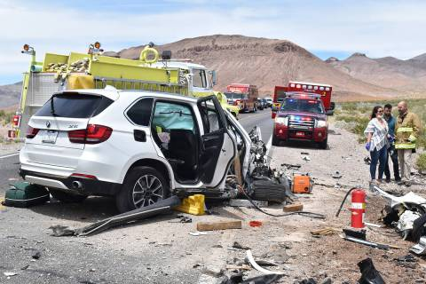 Special to the Pahrump Valley Times Three people were killed following a two-vehicle head-on co ...