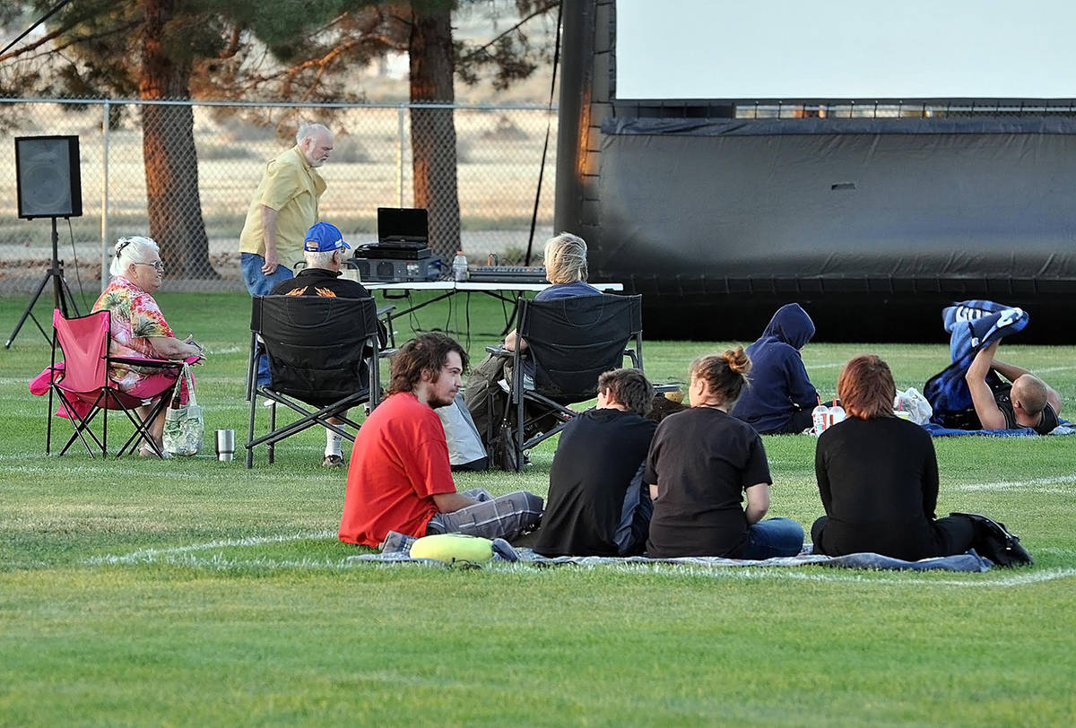 Horace Langford Jr./Pahrump Valley Times Movies in the Park attendees are encouraged to observe ...