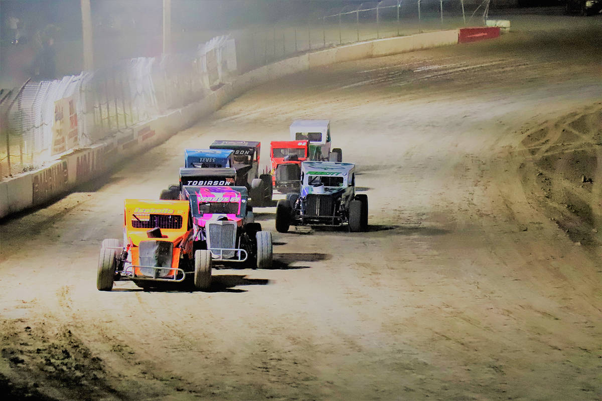 Digital Storm Photography/Special to the Pahrump Valley Times The pack circles the track during ...