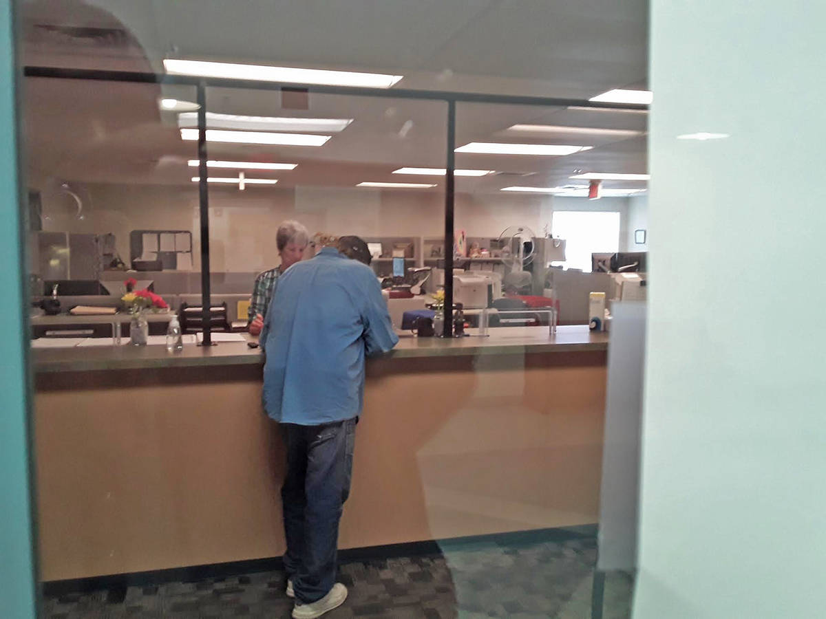 Selwyn Harris/Pahrump Valley Times Taken Monday, June 8, this photo shows a man turning in his ...