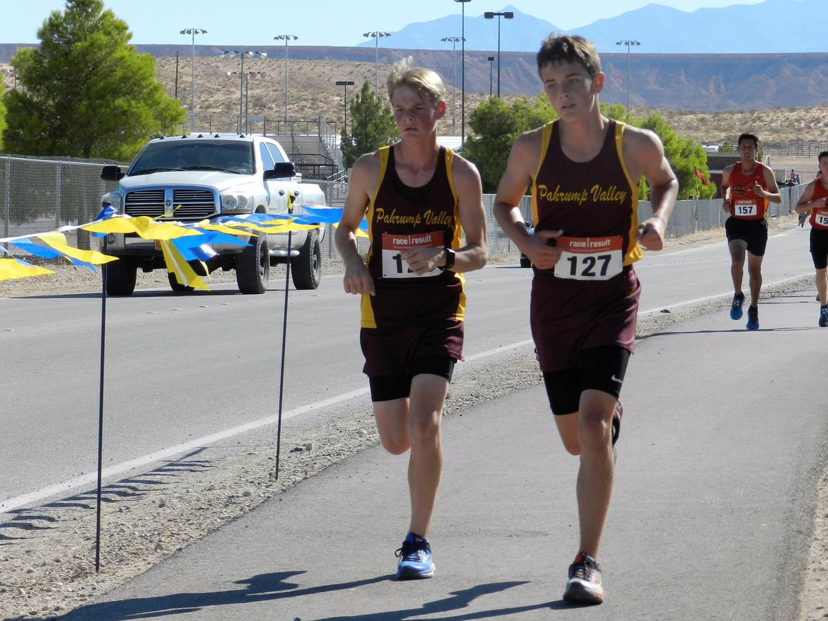 Special to the Pahrump Valley Times A youthful Grant Odegard runs in the Moapa Valley Invitatio ...