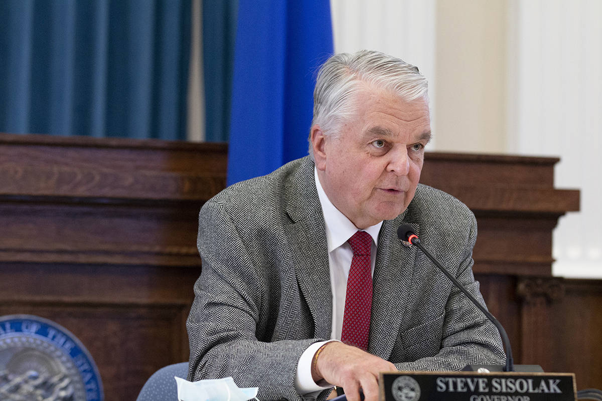 Gobernador Steve Sisolak (Colton Lochhead / Las Vegas Review-Journal).