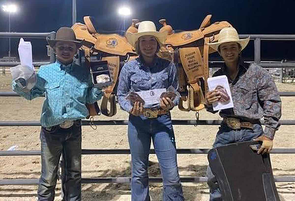 Buddy Krebs/Special to the Pahrump Valley Times Pahrump Valley junior high schoolers Jace Jepso ...
