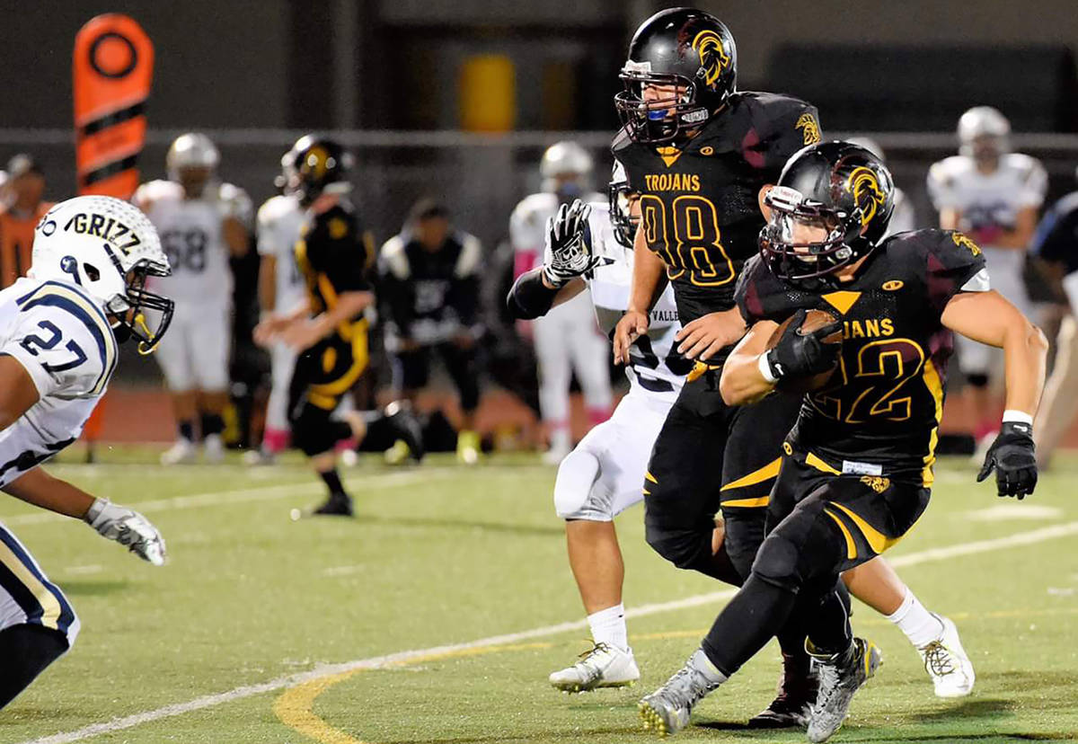 Peter Davis/Pahrump Valley Times file As a senior in 2015, Tommy Gascoigne led the Pahrump Vall ...