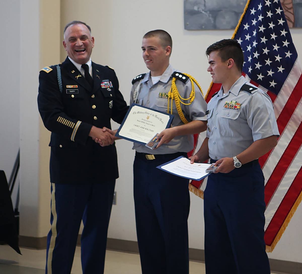 Selwyn Harris/Pahrump Valley Times file Cadets Tommy Gascoigne, right, and Josh Walters are pre ...