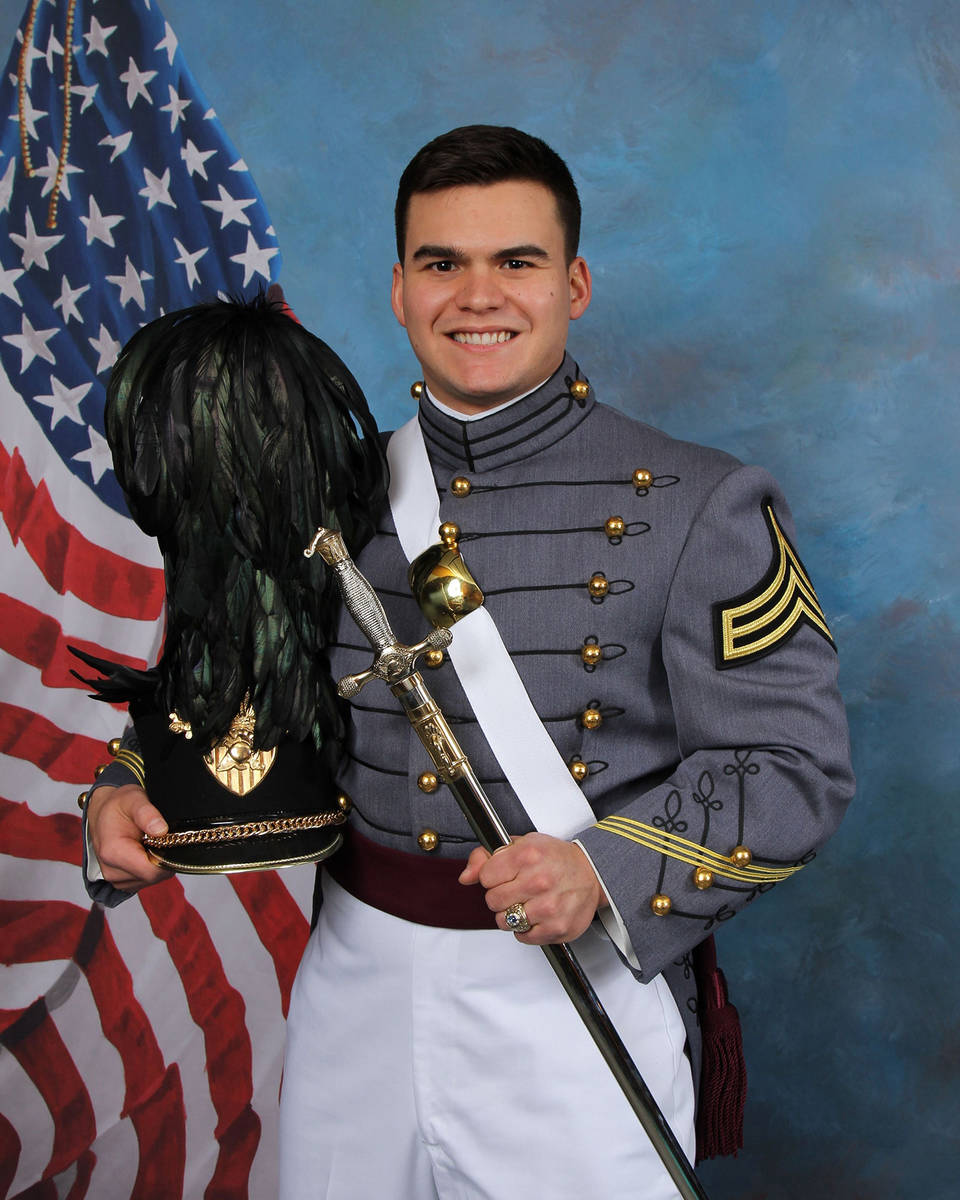 Special to the Pahrump Valley Times Pahrump Valley High School graduate Tommy Gascoigne graduat ...