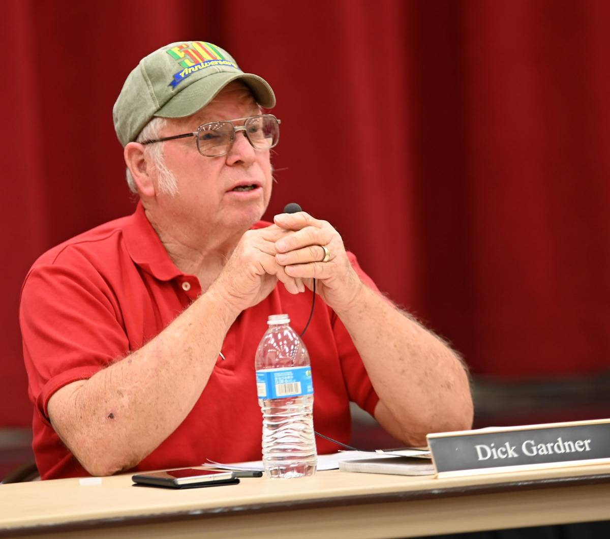 Richard Stephens/Special to the Pahrump Valley Times Dick Gardner, longtime chairman of the Be ...