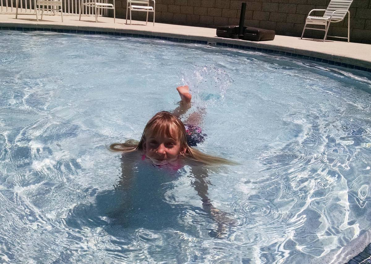 Lexis Bray/Pahrump Valley Times This file photo shows a valley youngster cooling off in the kid ...